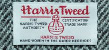 Etikett Harris Tweed